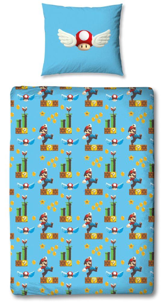 Super Mario Bettwäsche 100 Baumwolle Linon Biberflanell 135x200