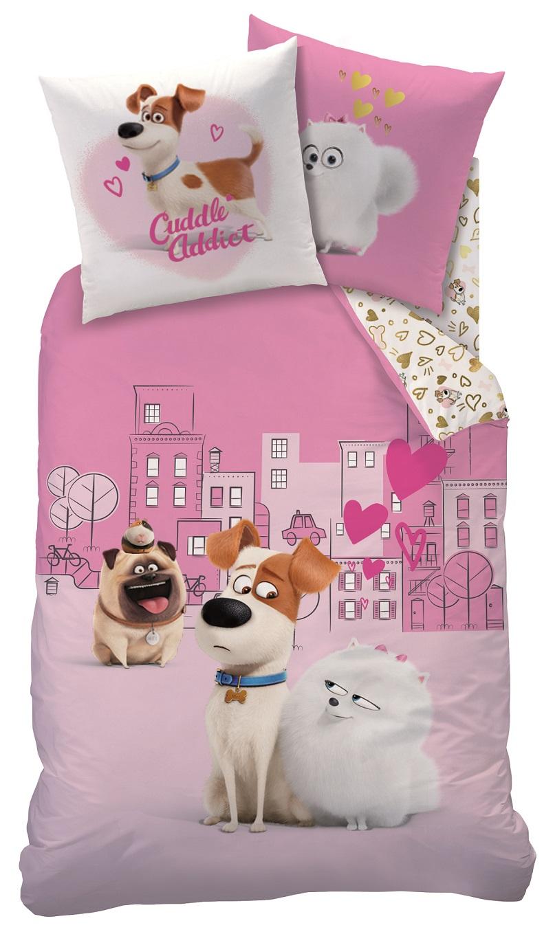 auswahl pets bettw sche set haustiere 135x200 80x80cm baumwolle hunde secret ebay. Black Bedroom Furniture Sets. Home Design Ideas