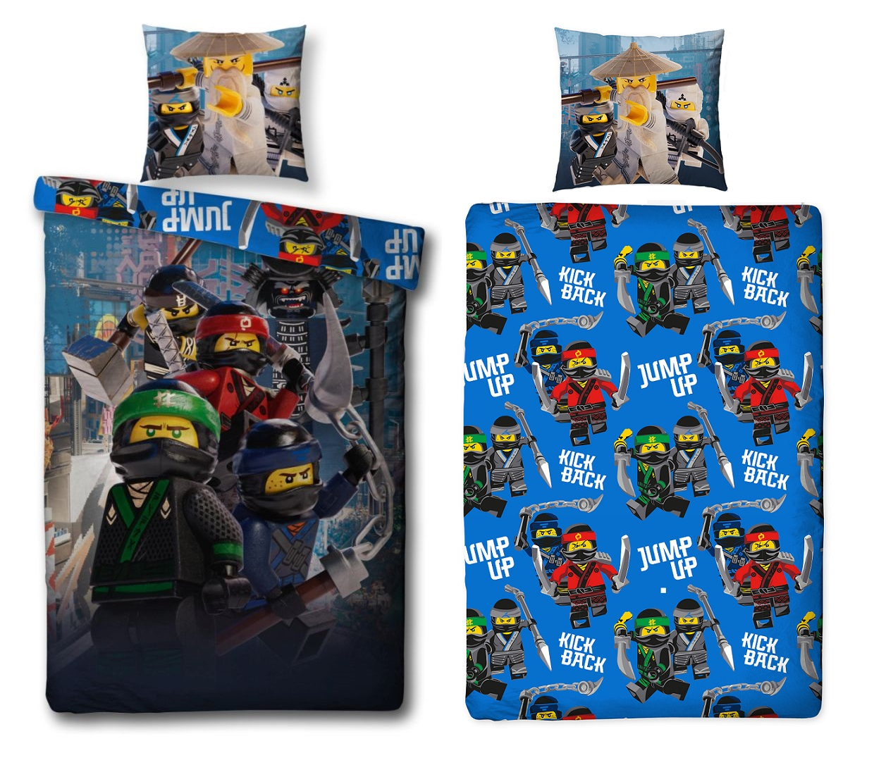 auswahl lego ninjago movie bettw sche linon biber flanell 135x200 80x80 badetuch ebay. Black Bedroom Furniture Sets. Home Design Ideas