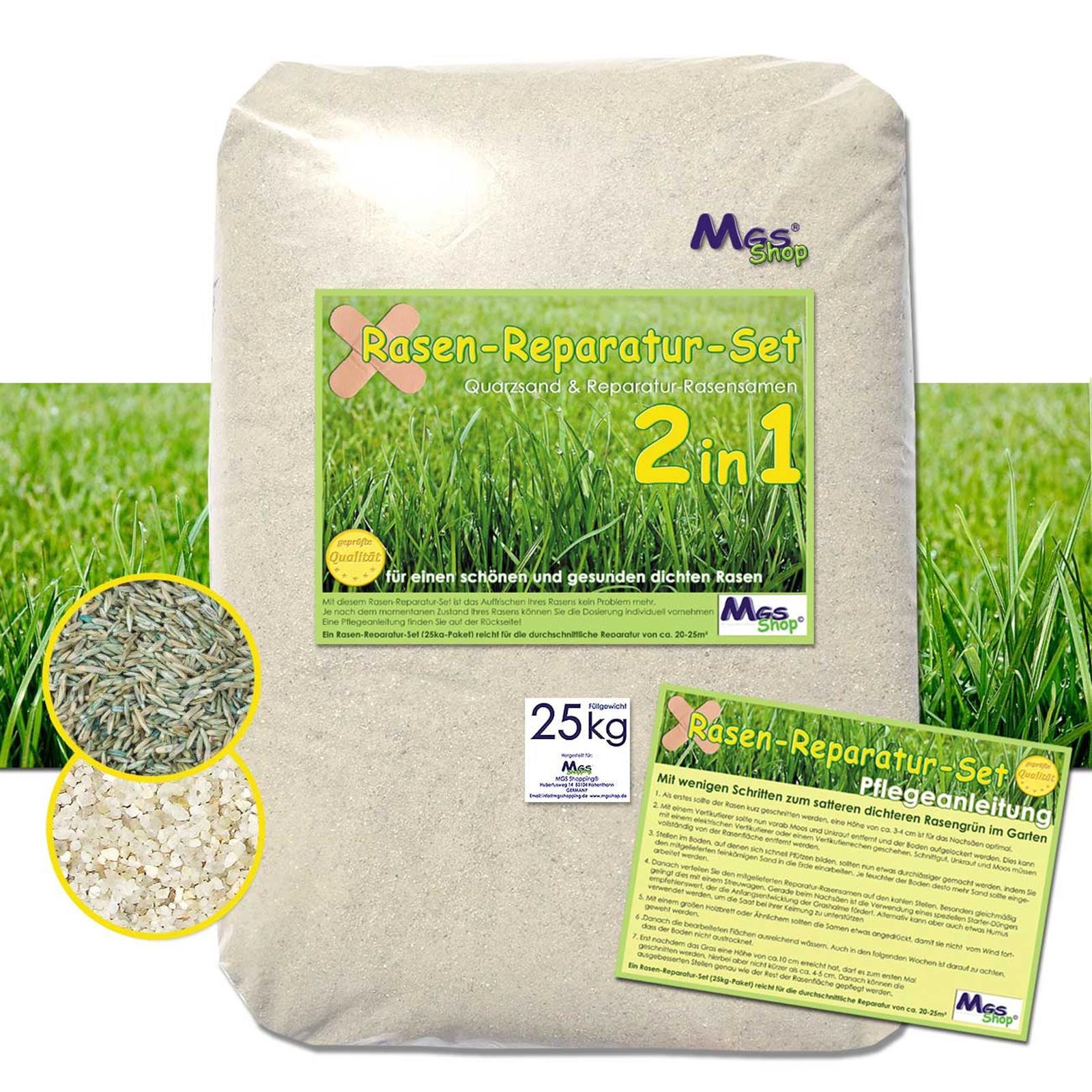 Rasen Reparatur Set 2in1 Fur Einen Gesunden Rasen