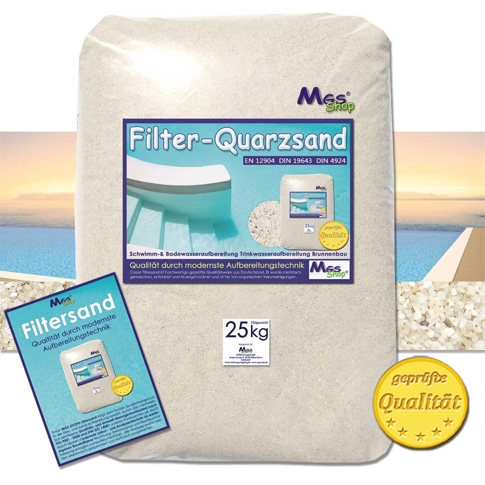 Extrem Filtersand für Pool- und Filteranlagen gemäß DIN EN 15798 AV72