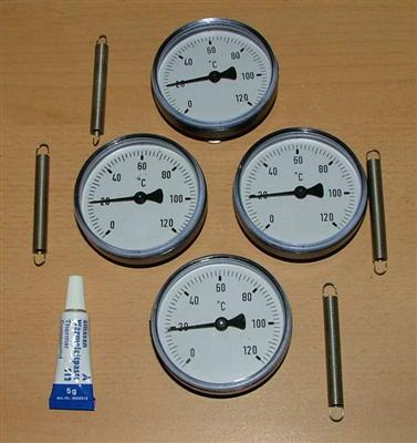 4 Anlegethermometer (Set) Ø63mm  Wärmeleitpaste (5260#