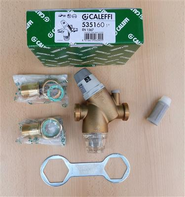 caleffi wasser druckminderer 1 zoll mit wasserfilter ebay. Black Bedroom Furniture Sets. Home Design Ideas