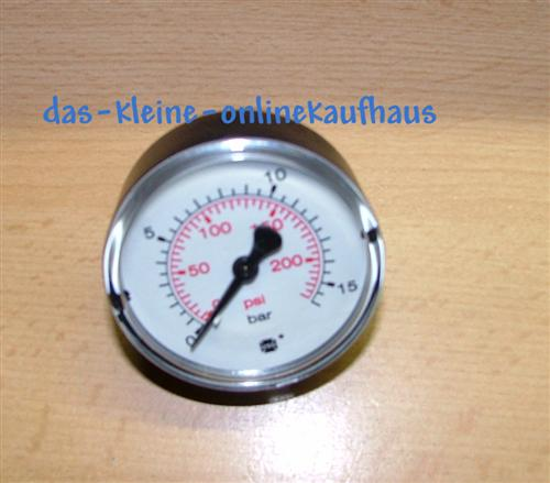 "Manometer 0-10 Bar / Axial Durch.50mm / 1/4""AG  (4826*"