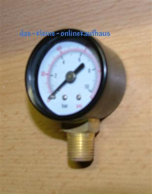 "Manometer 0-4 Bar / Radial Durch.40mm / 1/4""AG  (3320#"