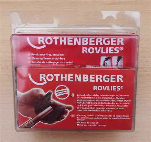 Putzvlies Rothenberger metallfreies Reinigungsvlies /Blisterverp(7851#