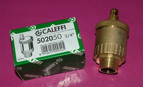 "Caleffi Schnellentlüfter Minical 3/4"" AG Messing Art.502050 (5697#"