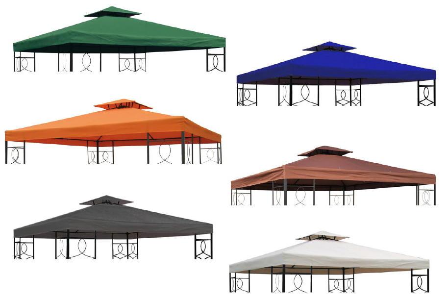 ersatzdach wasserdicht f r pavillon ca 3x3 m mit kaminabzug 270g m viele farben ebay. Black Bedroom Furniture Sets. Home Design Ideas