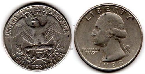 Münze Usa Quarter Dollar Von 1988 D