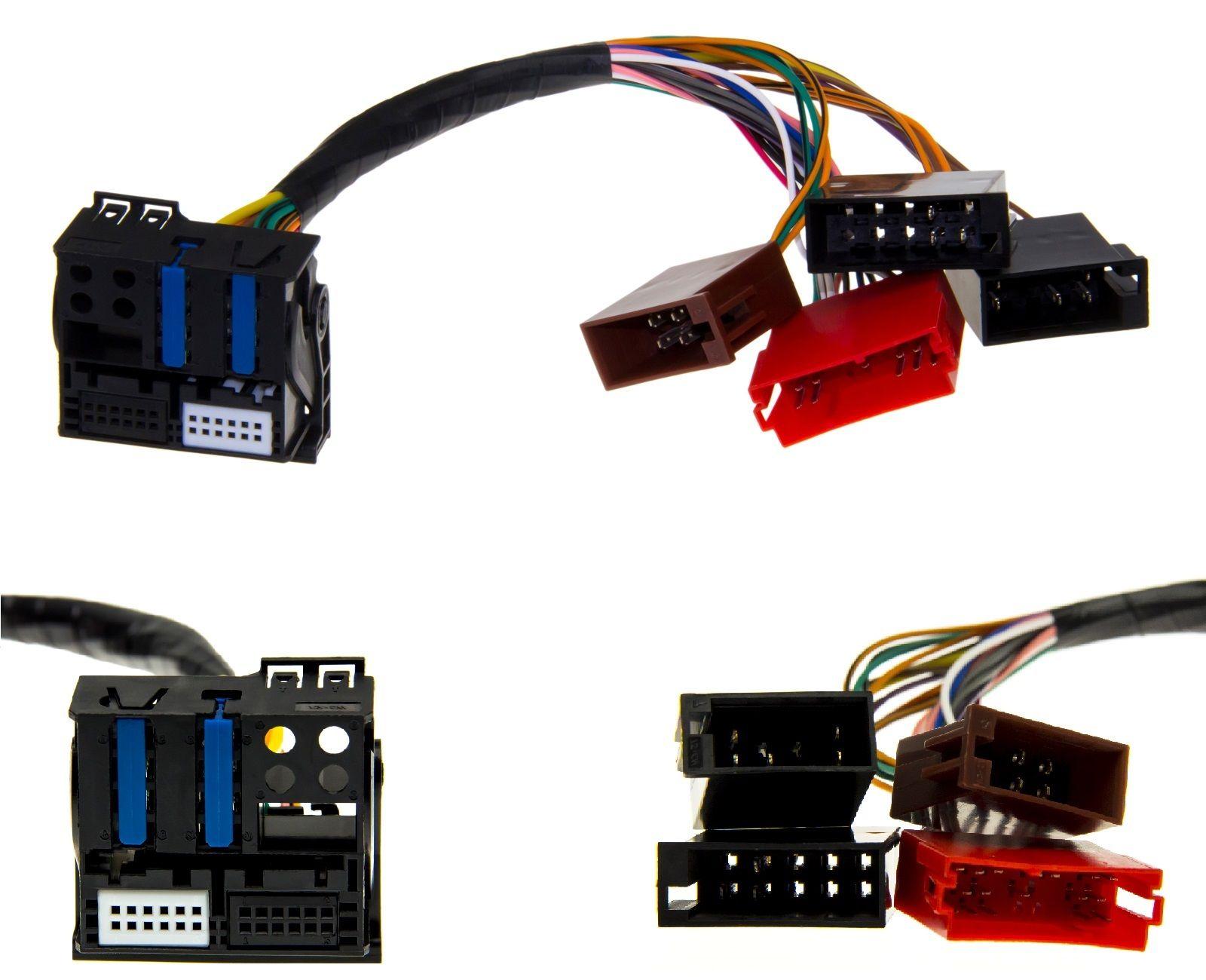 iso fakra quadlock plug play kabel adapter f r audi rns e. Black Bedroom Furniture Sets. Home Design Ideas