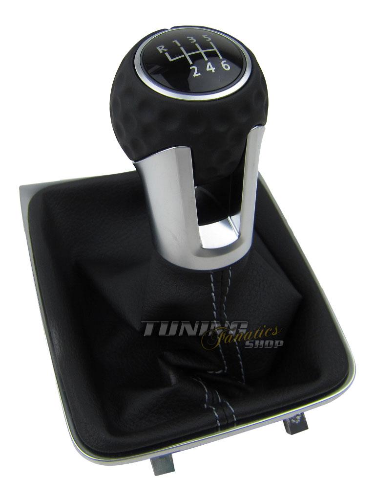 original vw schaltknauf golfball alu grau leder 6 gang vw. Black Bedroom Furniture Sets. Home Design Ideas