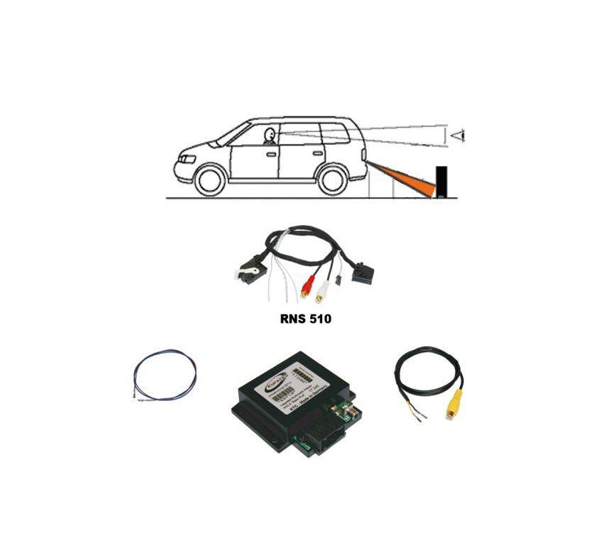 Kabelbaum Kamera Für VW RNS 315 510 Original Kufatec Rückfahrkamera Interface