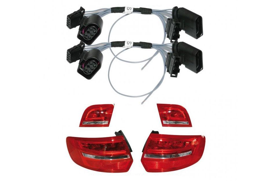 Original Kufatec Adapter Kabel Facelift Rückleuchten für Audi A3 8P Sportback
