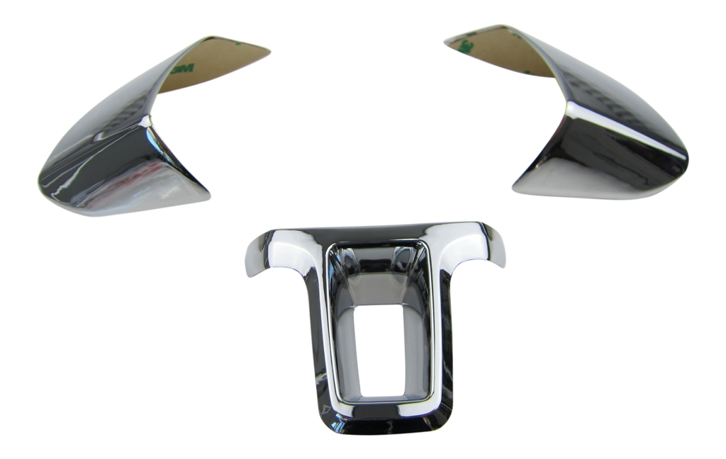 ALU Lenkrad Abdeckung Blenden Clip Chrom SET MFL für VW Passat 3C B6 CC Scirocco