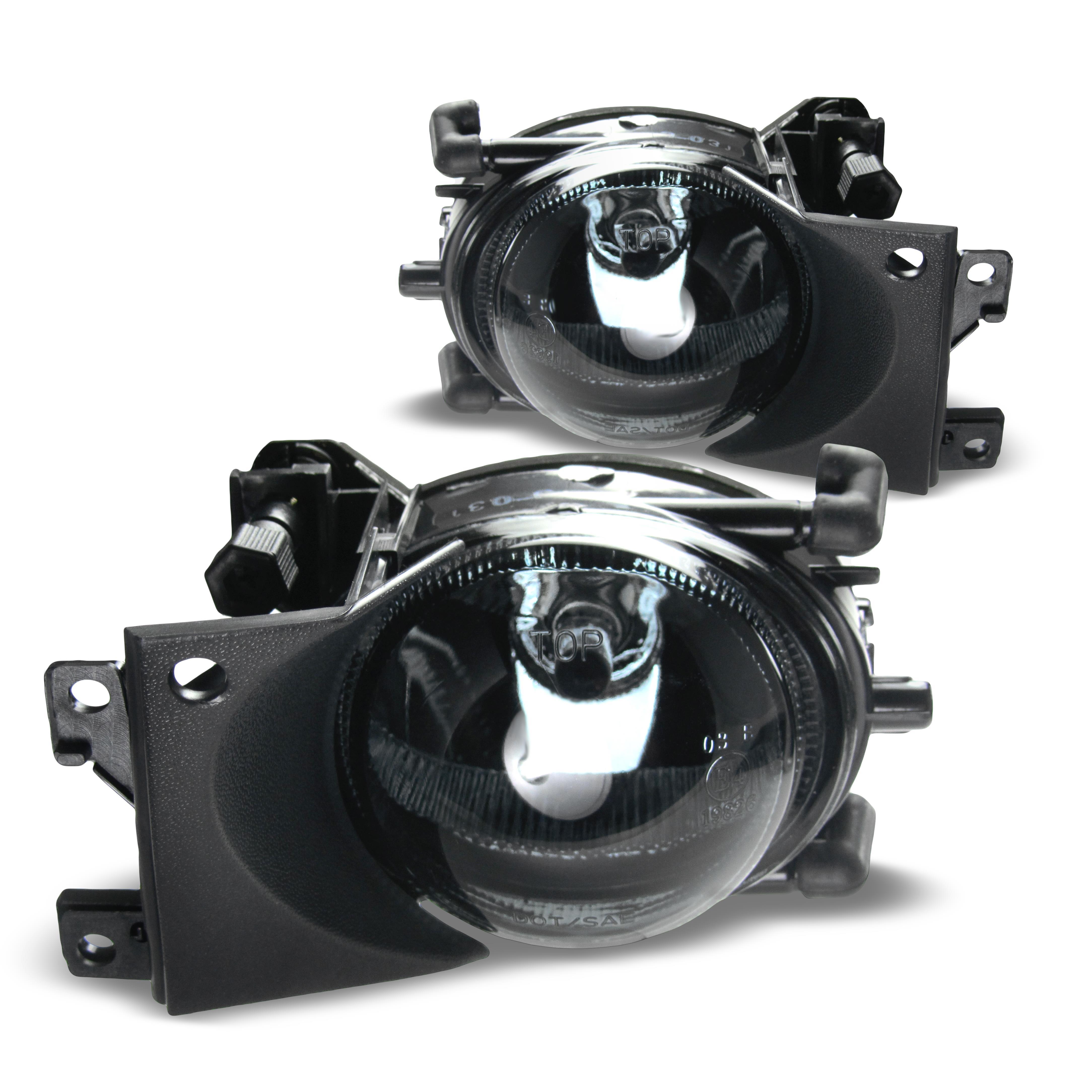 2x Nebelscheinwerfer NSW Klarglas Chrom Birnen H8 für BMW 5er E39 Facelift
