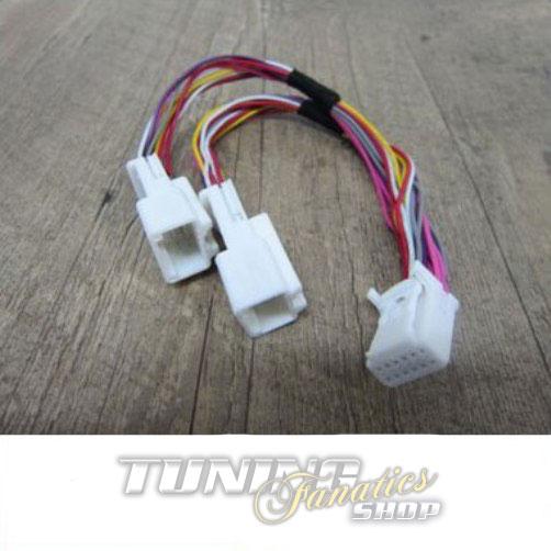 y adapter kabel verteiler f r toyota 6 6 pin mp3 cd. Black Bedroom Furniture Sets. Home Design Ideas