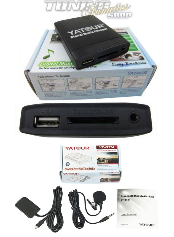 Für Opel Radio Bluetooth USB MP3 AUX CD Wechsler Adapter Freisprecheinrichtung