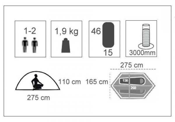 2 Personen Zelt 1 Kg : Narveik tellta personen biker zelt nur kg mm