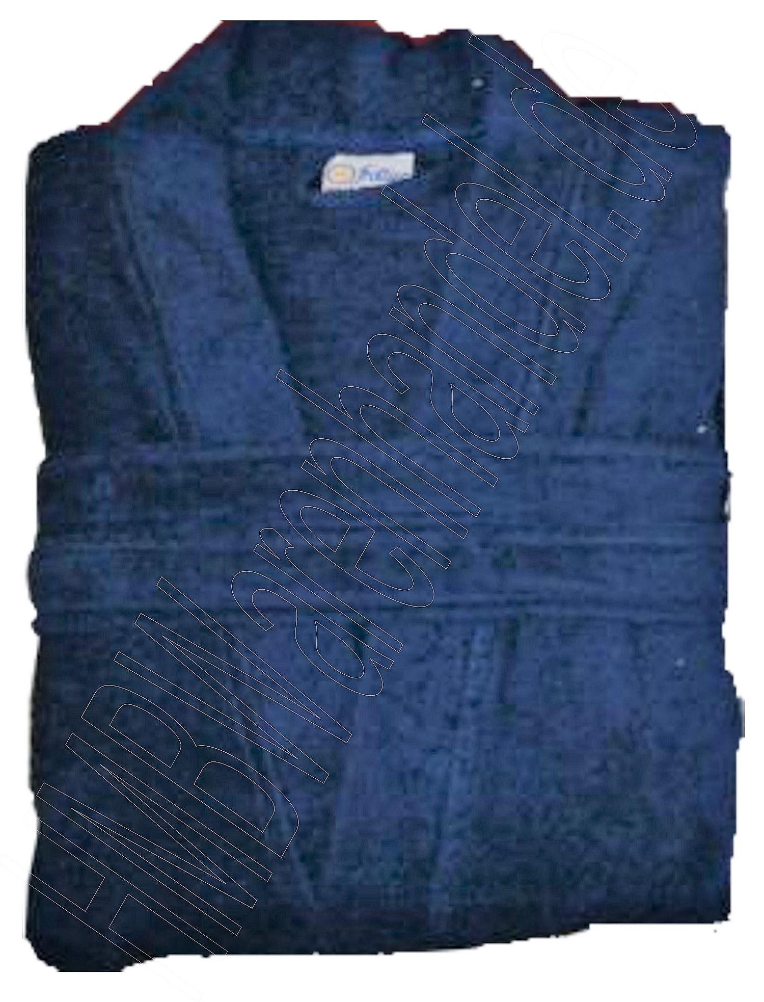 damen herren baumwolle frottier bademantel saunamantel schalkragen blau s kotex ebay. Black Bedroom Furniture Sets. Home Design Ideas