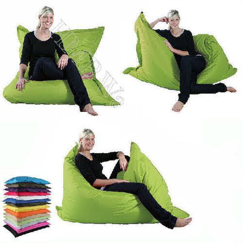 riesen sitzsack xxl sitzkissen 140x180 outdoor geeignet 15 trendige farben ebay. Black Bedroom Furniture Sets. Home Design Ideas