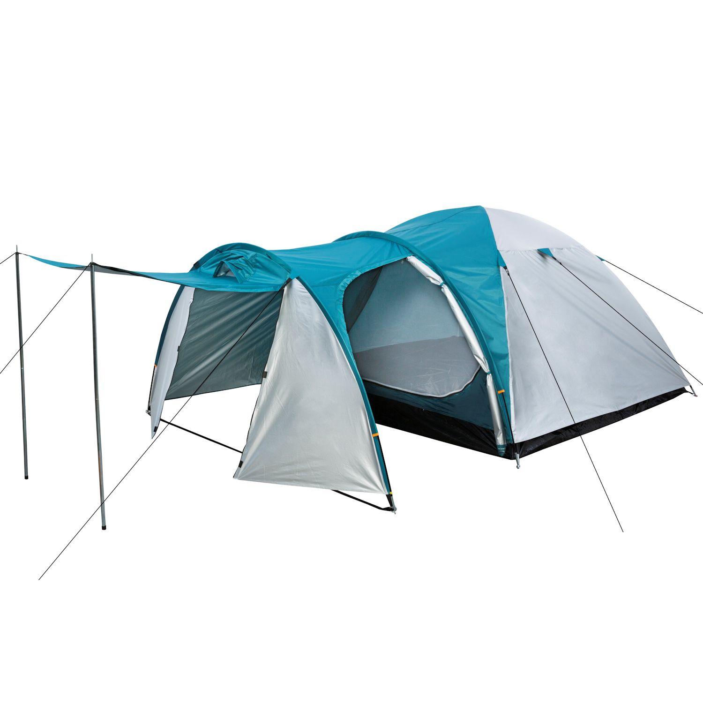 campfeuer campingzelt igluzelt f r 3 personen zelt 3000 mm kuppelzelt silber ebay. Black Bedroom Furniture Sets. Home Design Ideas