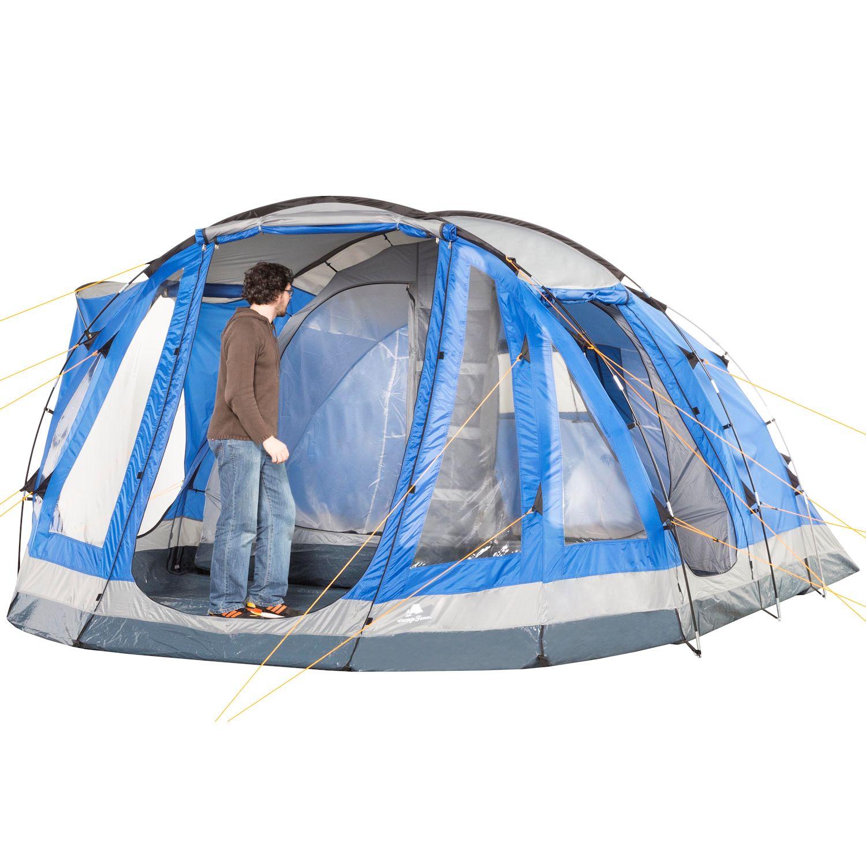 gro es xxl 5 personen zelt campingzelt familienzelt 3000. Black Bedroom Furniture Sets. Home Design Ideas
