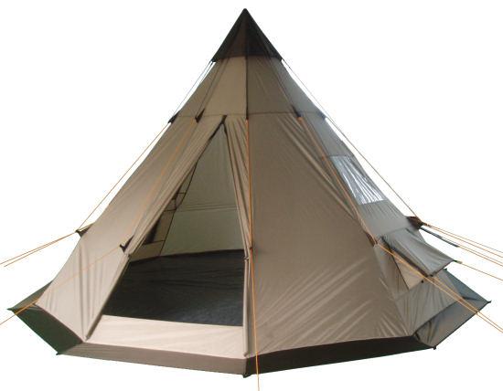CampFeuer - Tipi Zelt (Teepee) - Indianerzelt, Braun