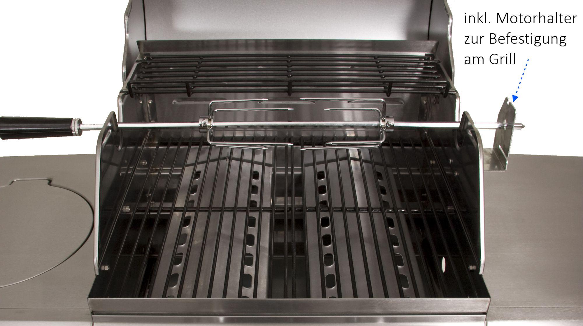 BBQ-Toro Grillspieß Set mit Motor für 57 cm Kugelgrill