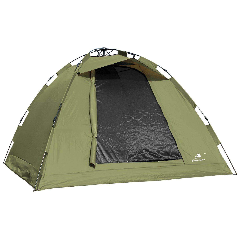 CampFeuer® Karpfenzelt Ruckzuck Zelt 2 Mann Bivvy 6000mm Wassersäule ...