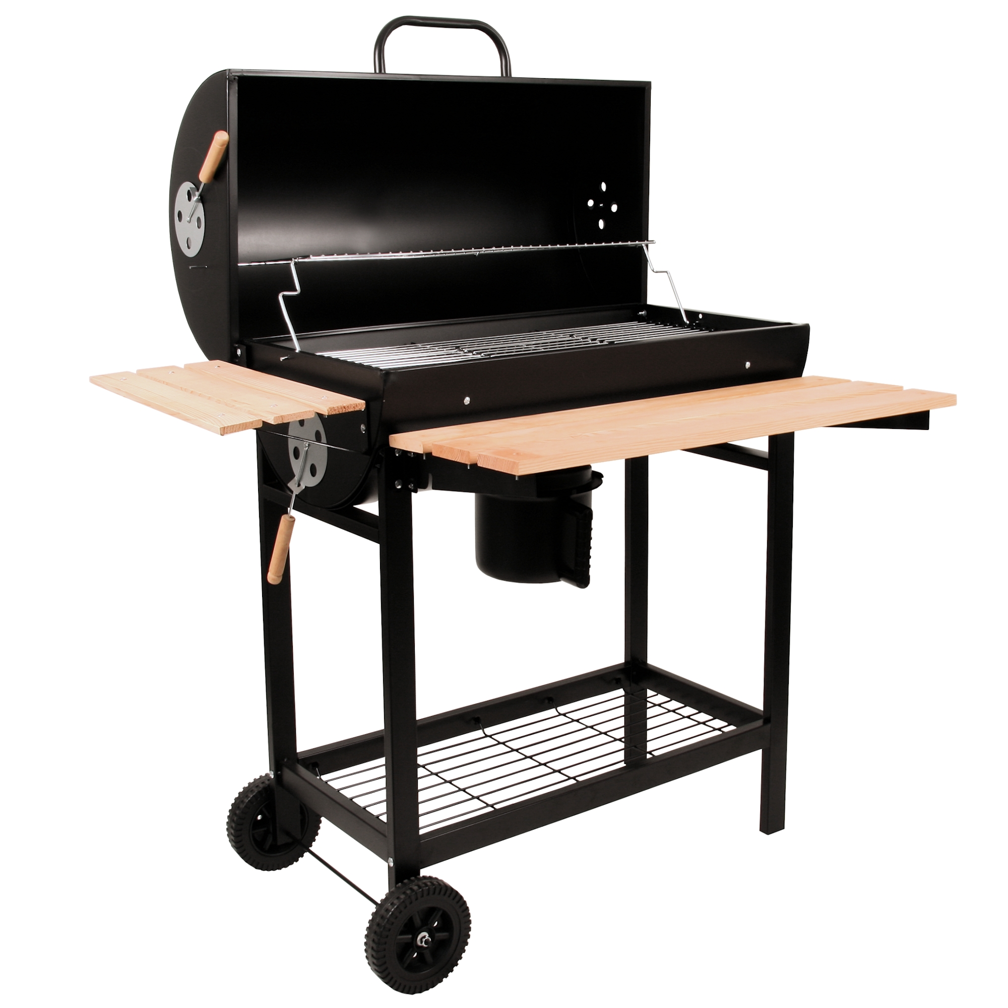 bbq toro holzkohle grillwagen smoker holzkohlegrill bbq der onlineshop f r grills. Black Bedroom Furniture Sets. Home Design Ideas