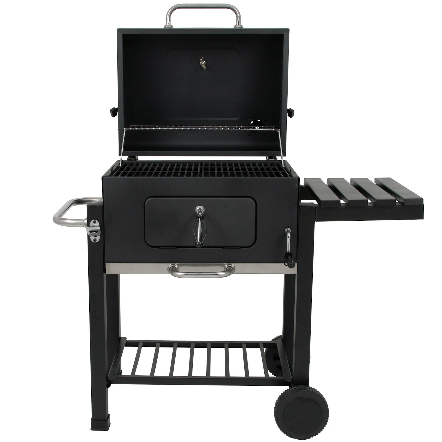 bbq toro holzkohle grillwagen black oak bbq smoker barbecue grill gartengrill ebay. Black Bedroom Furniture Sets. Home Design Ideas