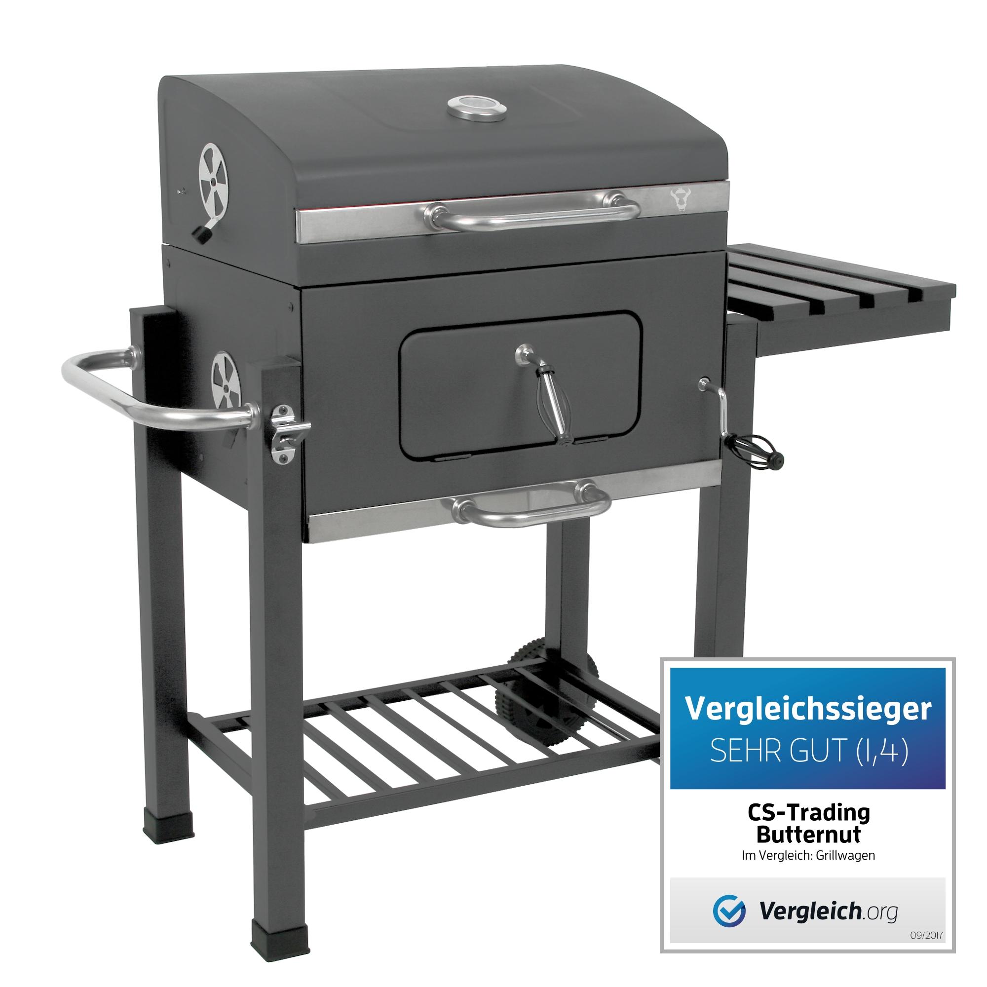 bbq toro holzkohle grillwagen butternut bbq smoker barbecue grill gartengrill ebay. Black Bedroom Furniture Sets. Home Design Ideas