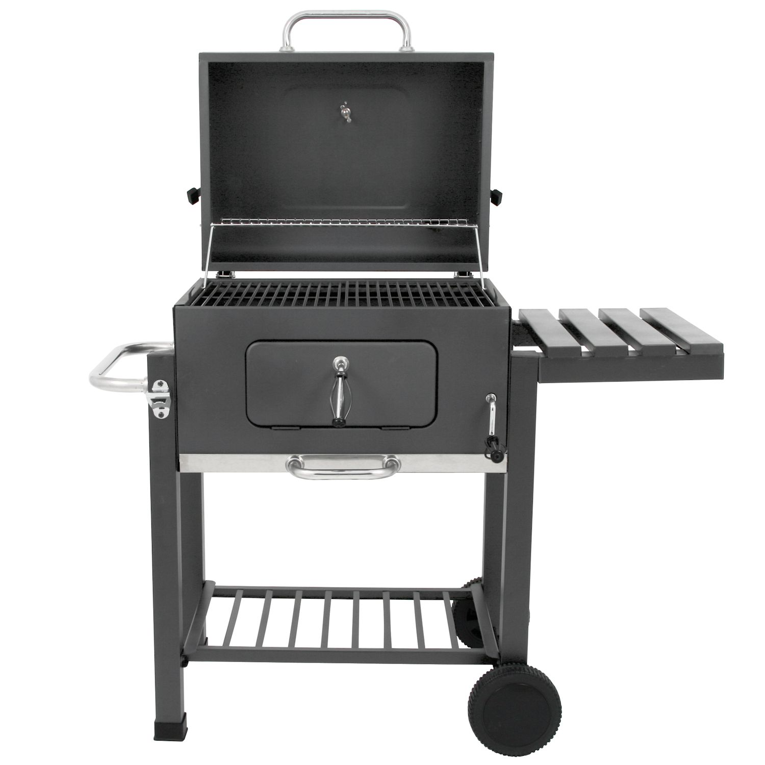 bbq toro holzkohle grillwagen butternut bbq smoker barbecue grill gartengrill ebay. Black Bedroom Furniture Sets. Home Design Ideas