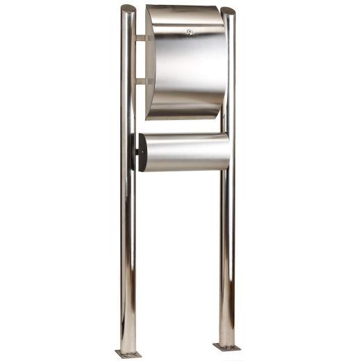 zelsius zelsius standbriefkasten edelstahl doppelrohr. Black Bedroom Furniture Sets. Home Design Ideas