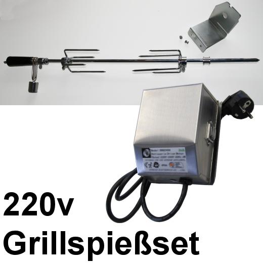 Grillspießset Drehspiess Spieß Rotisserie
