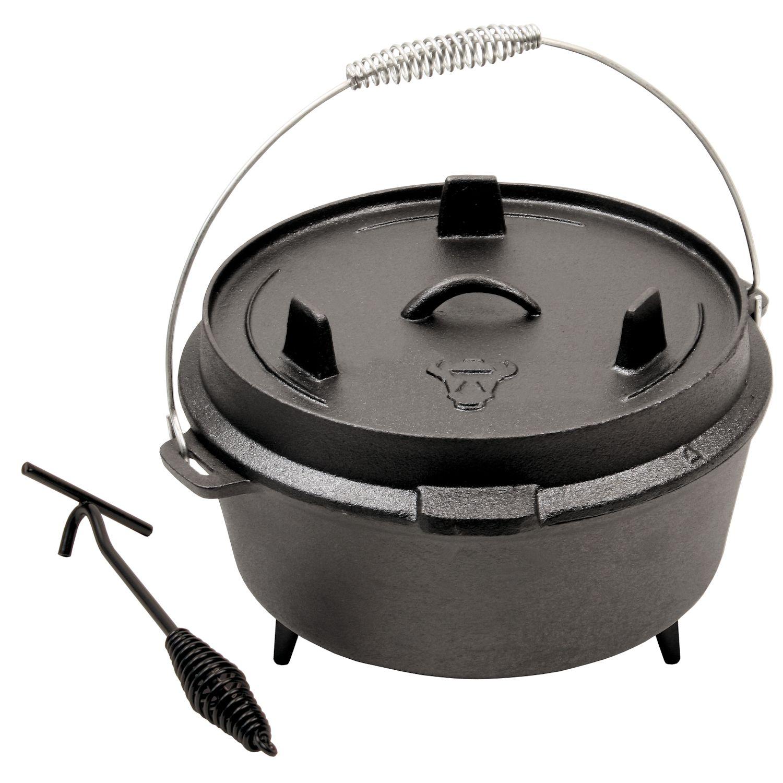 Dutch Oven mit Deckelheber DO12, 11,5 Liter Gusseisen Kessel | eBay