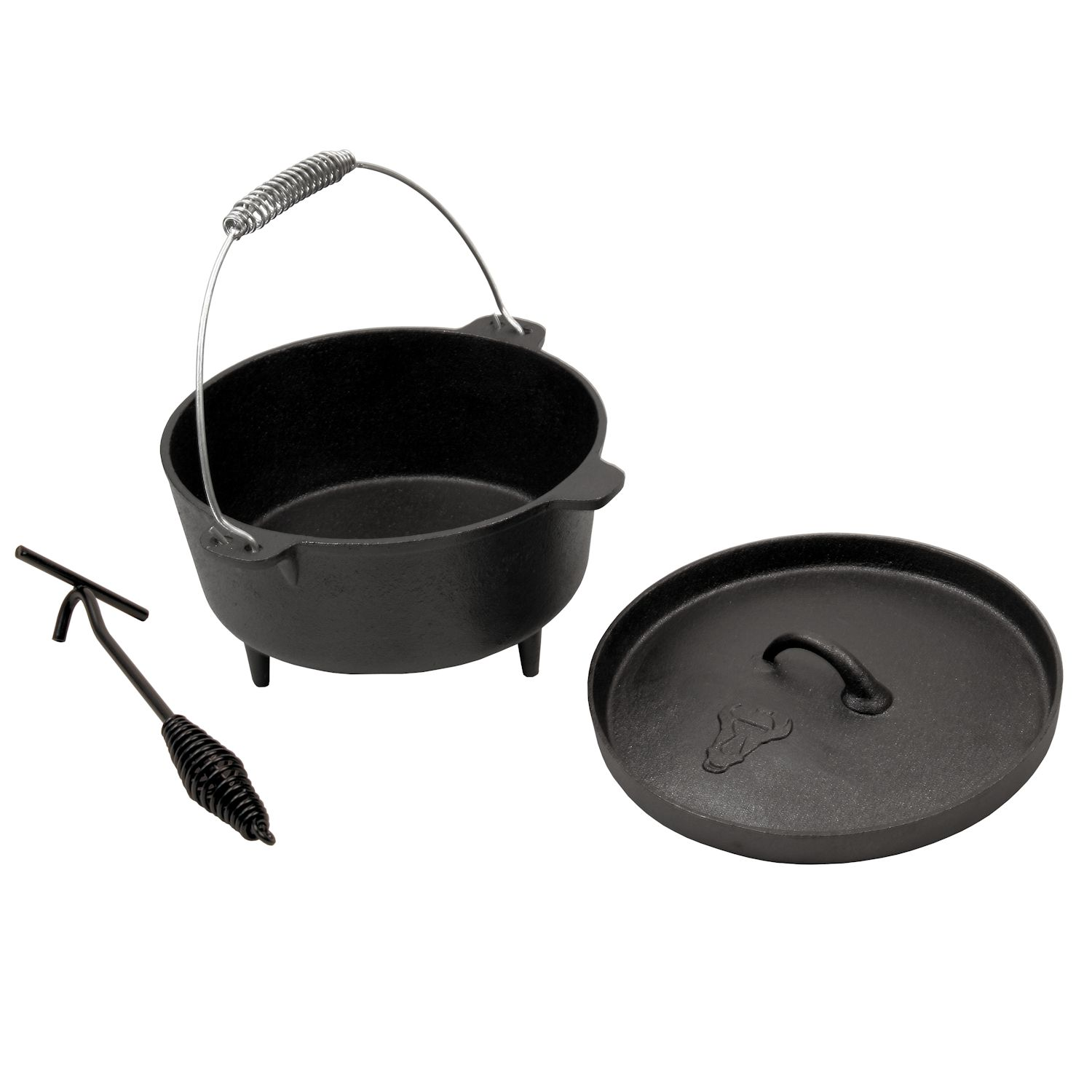 bbq toro dutch oven topf do4 5 gusseisen kochtopf 4 2 l gusstopf cs clever. Black Bedroom Furniture Sets. Home Design Ideas
