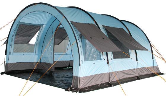 campfeuer campingzelt zelt tunnelzelt familienzelt f r 4. Black Bedroom Furniture Sets. Home Design Ideas