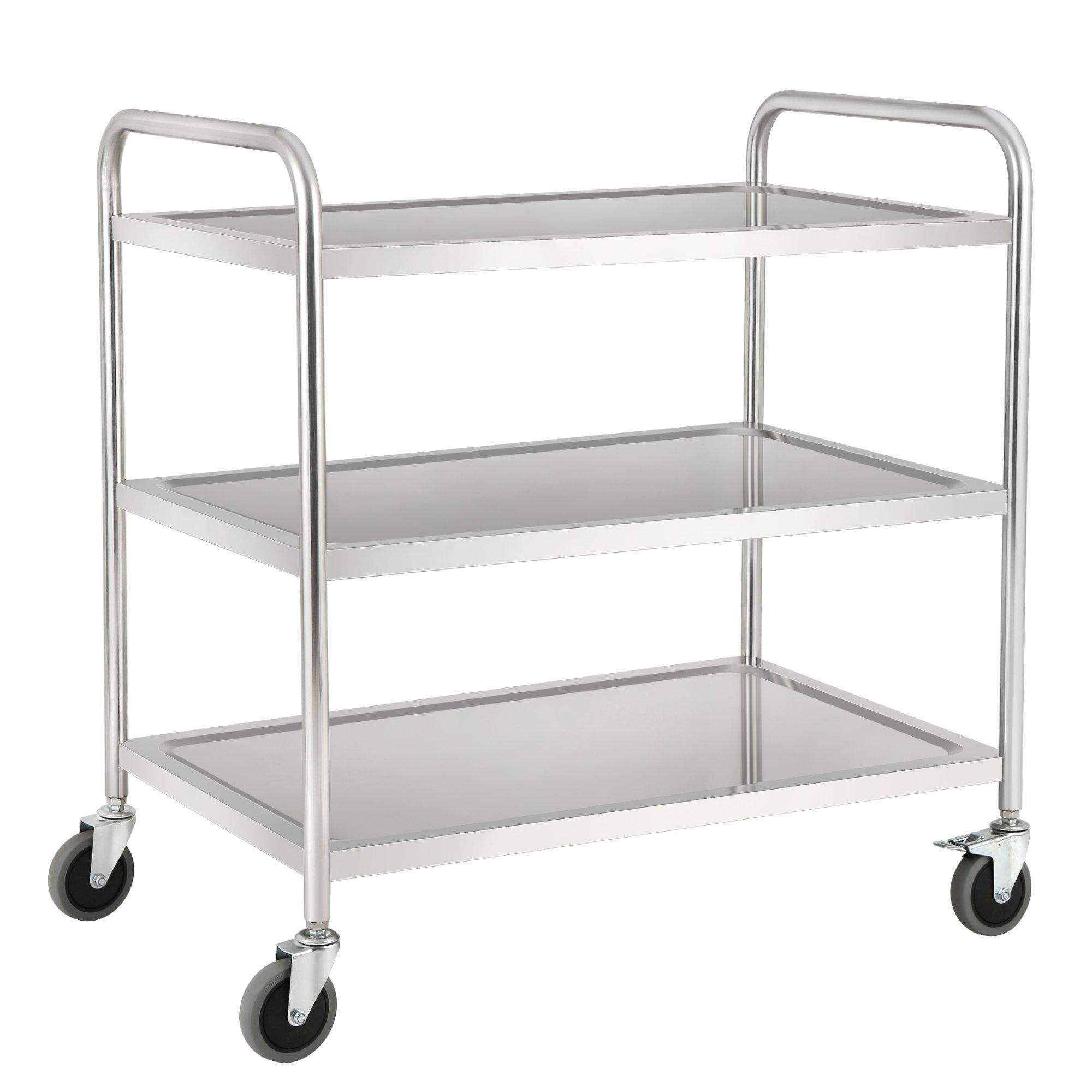 zelsius edelstahl servierwagen k chenwagen esw4 cs clever shoppen im. Black Bedroom Furniture Sets. Home Design Ideas