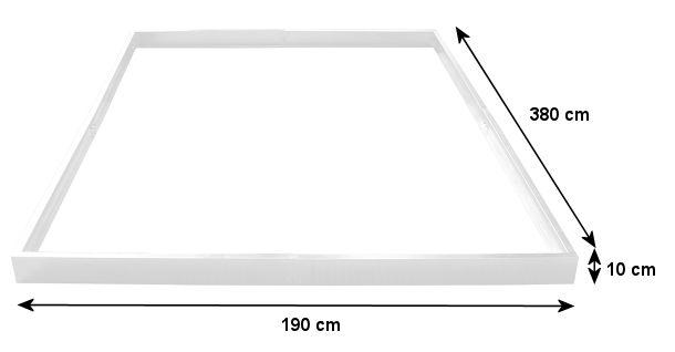 zelsius stahl fundamentrahmen f r gew chshaus 380 x. Black Bedroom Furniture Sets. Home Design Ideas