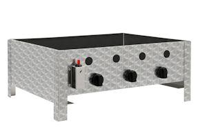 edelstahl gastrobr ter 3 flammig gasgrill mit grillrost gasbr ter b ware ebay. Black Bedroom Furniture Sets. Home Design Ideas