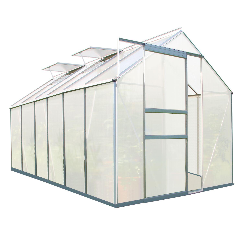 zelsius gew chshaus gartenhaus 6 mm verglasung aluminium. Black Bedroom Furniture Sets. Home Design Ideas