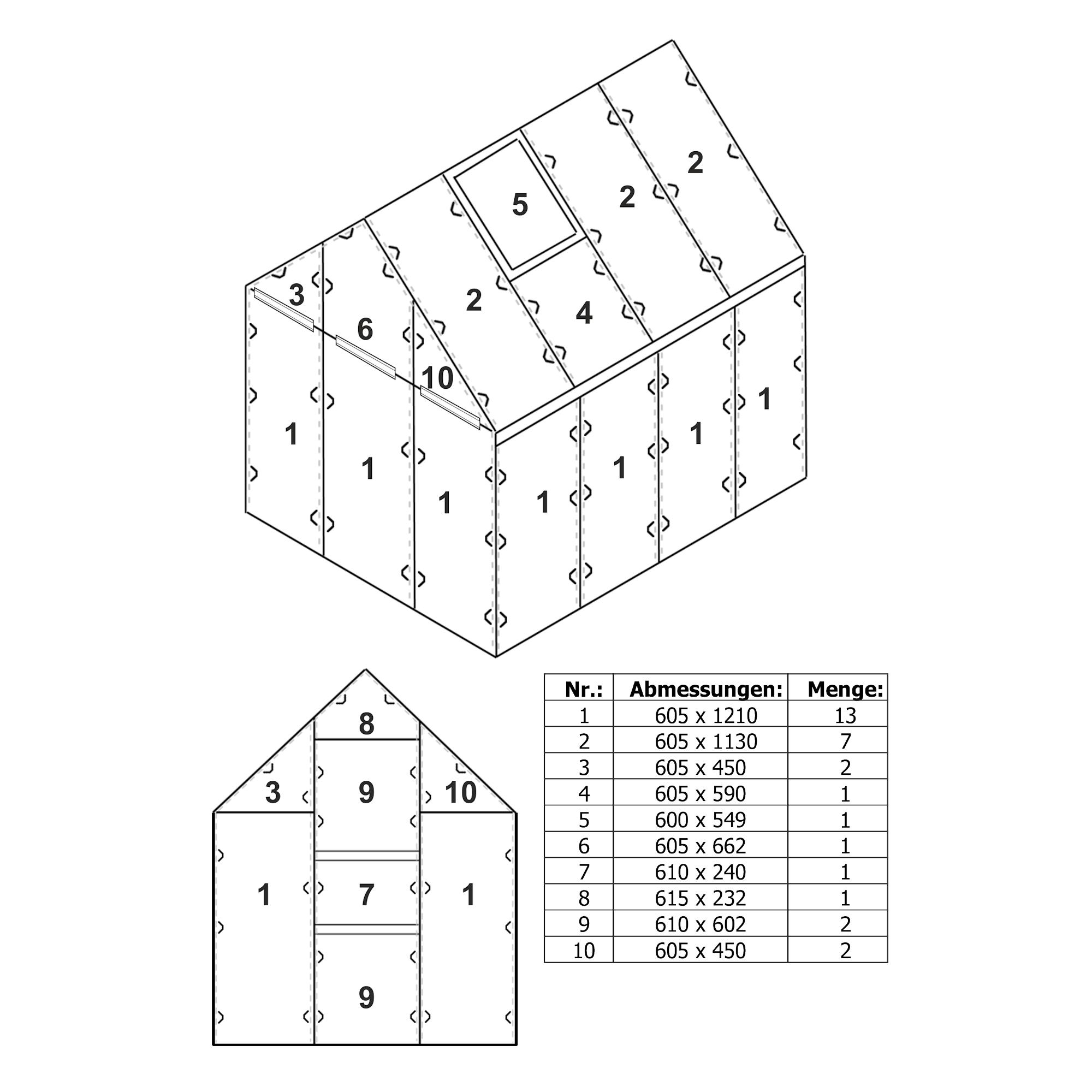 zelsius 6 mm polycarbonat stegplatten set f r gew chshaus gw04 garten treibhaus ebay. Black Bedroom Furniture Sets. Home Design Ideas