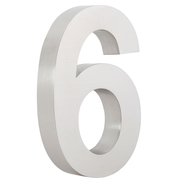 Zelsius, Edelstahl, Hausnummer, Hausnummern, Ziffer, V2A, V2A Edelstahl, gebürstet, matt, 0, 1, 2, 3, 4, 5, 6, 7, 8, 9