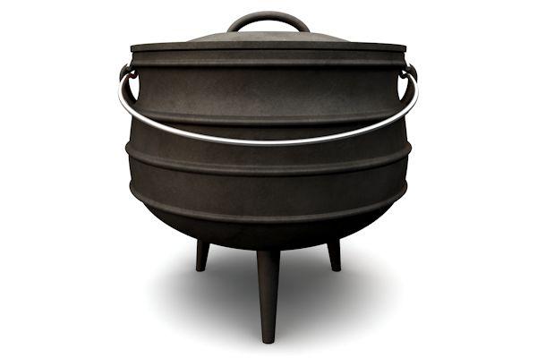 BBQ Potjie, Potjies, Dutch Oven, Gusseisen Kochtopf
