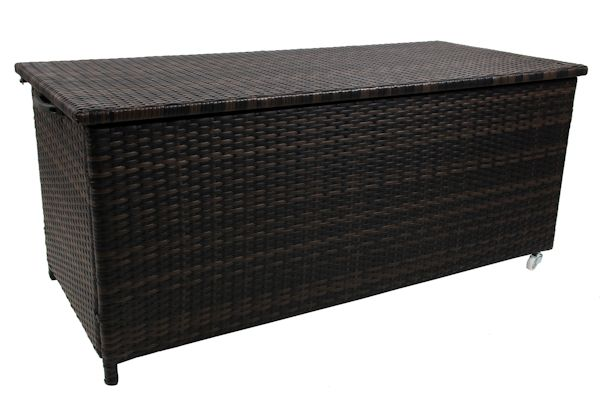polyrattan auflagenbox kissentruhe auflagentruhe gartentruhe gartenbox rabo1 ebay. Black Bedroom Furniture Sets. Home Design Ideas