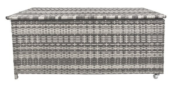 Wundervoll Zelsius - Rattan Auflagenbox, grau, 133 x 62 x 55 cm   CS-Trading  NO19