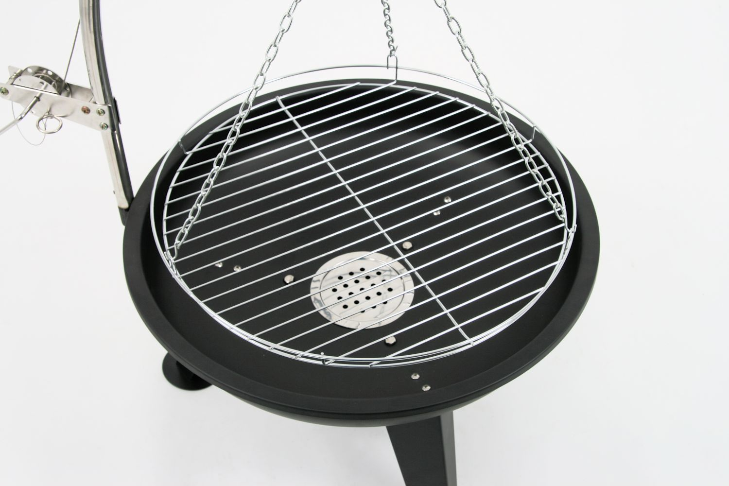 bbq toro schwenkgrill holzkohle grill 64 cm schwenker mit grillrost cs clever. Black Bedroom Furniture Sets. Home Design Ideas
