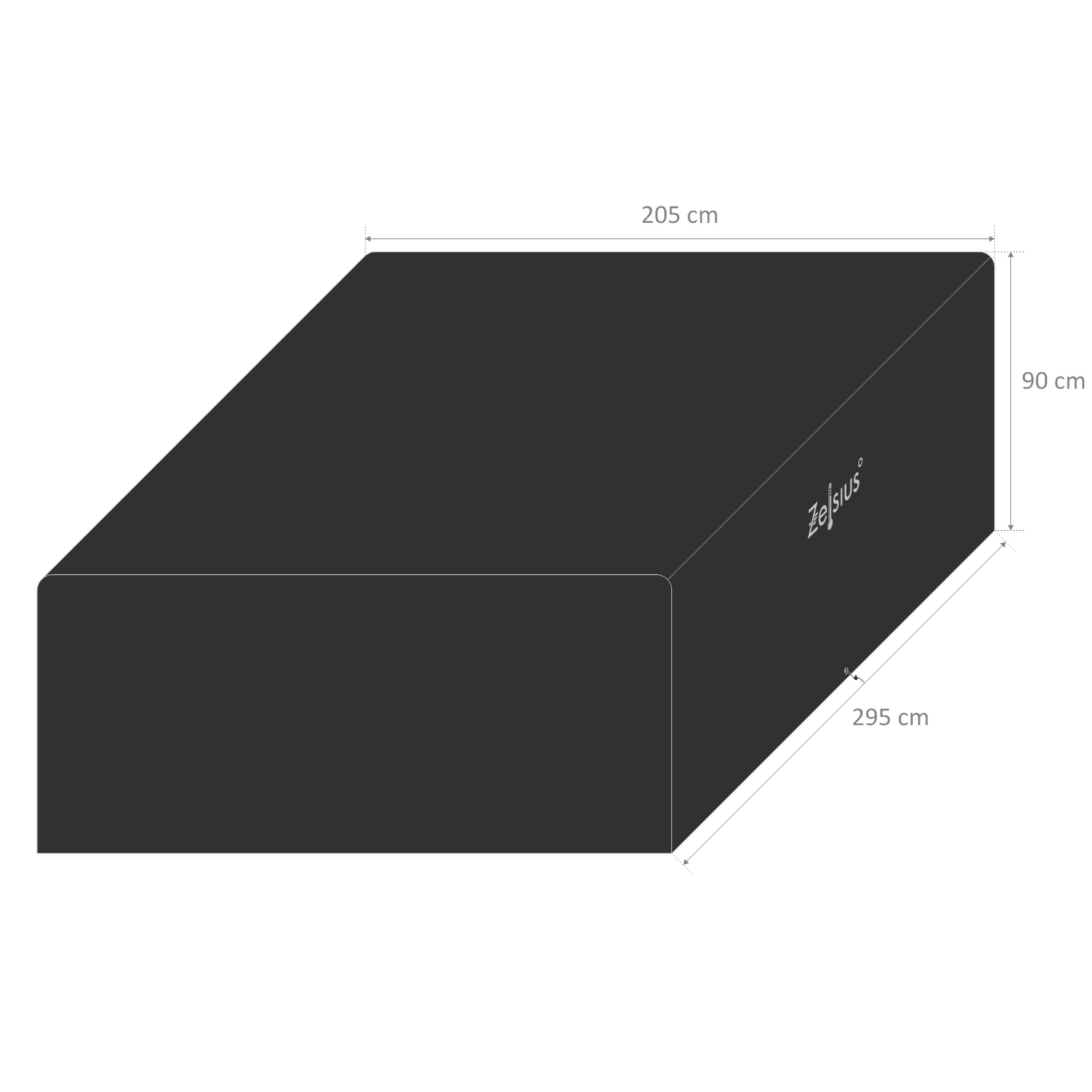 zelsius gartenm bel abdeckhaube l 295 x b 205 x h 90 cm cs clever shoppen. Black Bedroom Furniture Sets. Home Design Ideas