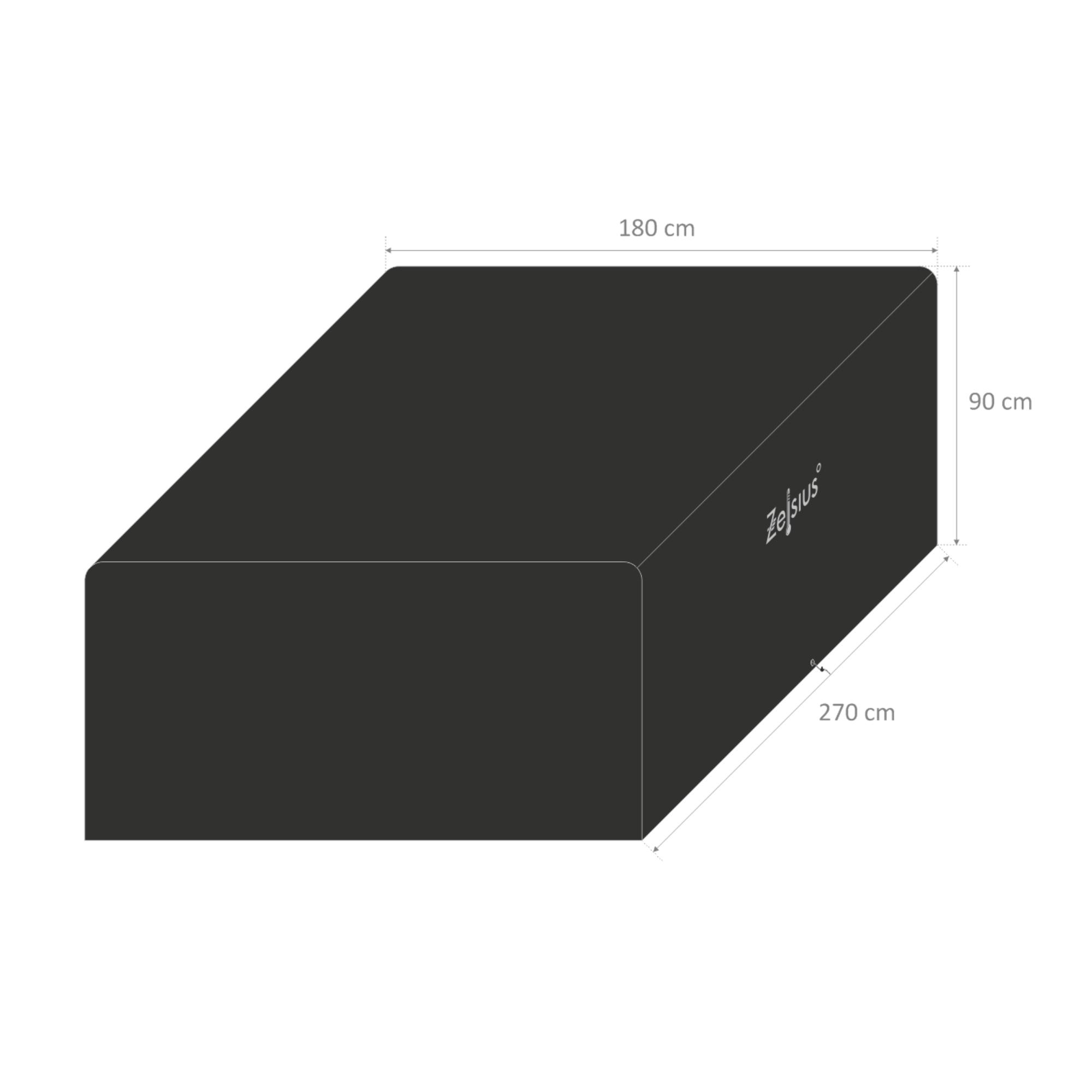 zelsius gartenm bel abdeckhaube l 270 x b 180 x h 90 cm cs clever shoppen. Black Bedroom Furniture Sets. Home Design Ideas